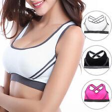 Damen Sport BH Bustier Bra Push up Fitness Yoga Unterwäsche ohne Bügel Top Weste