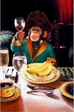 Modern Hand draw Art Oil Painting Funny Monkeys On Huge Canvas No Frame 36
