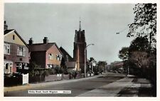 Leics - SOUTH WIGSTON, Blaby Road - 1960's Colour Tinted Real Photo Street Scene