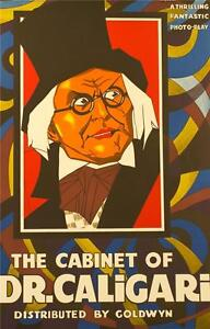 The Cabinet of Dr Caligari Vintage Movie Poster Lithograph Werner Krauss S2 Art