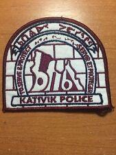 PATCH POLICE CANADA TRIBAL - KATIVIK ( QUEBEC ) - ORIGINAL!