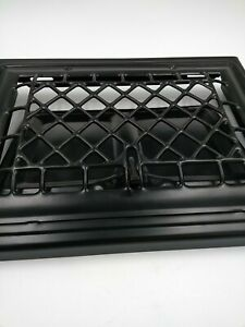 Black Metal Vent Cover w/ Open/Close Flap - Architectural Salvage Good Condition