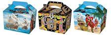 20 scatole di partito Pirata-alimentare Loot Pranzo Cartone Regalo Bambini sul petto