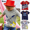 Children Kids Baby Boys Clothes Short Sleeve Cartoon Tops T-Shirt Casual Blouses