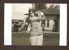 REAL PHOTO GLENNA COLLETTE BARE WOMAN GOLF GOLFER POSTCARD COPY 1920s