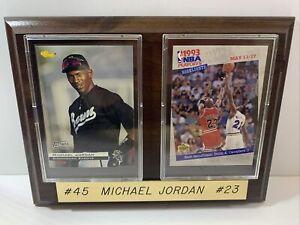 Michael Jordon DOUBLE CARDS &  Plaque #45 #23 VINTAGE, EXCELLENT CONDITION