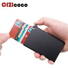 Smart Mini Wallet Anti Theft RFID Card Holder Thin Automatic Slider Metal Bank