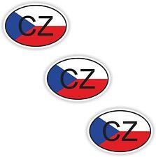 Tschechien 3x Aufkleber Autoaufkleber Motorrad Nationalitätenkennzeichen Flagge