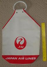 vintage japan airlines travel flight bag