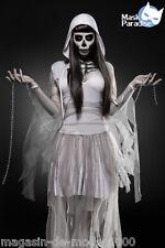 Skeleton Ghost Komplettset  Kostüm  Halloween Fasching Karneval Gr.34-36-38