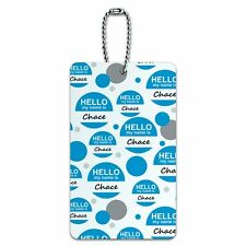 Luggage Card Suitcase Carry-On ID Tag Hello My Name Is Ch-Cy