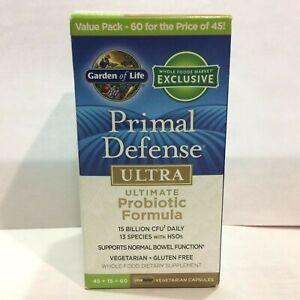 Garden Of Life Primal Defense Ultra Ultimate Probiotic Formula(60 Capsules)01/22