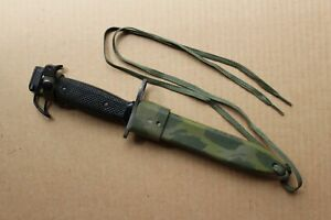 Australian Army M7 Bayonet with Plastic Hand Painted Scabbard VGC Defence Arrow