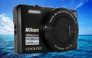 NIKON S7000 Black-20x Optical Zoom-80x Digital Zoom-Sharp pictures