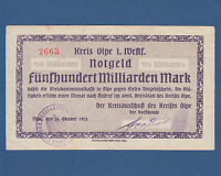 OLPE 500 Milliarden Mark 1923  III- / VF-