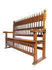 Spanish Colonial Revival Hall Bench - Circa 1940 - Solid Hand Carved Wood