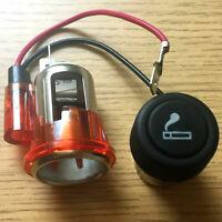 Auto Zigarettenanzünder 12V 20mm + Steckdoser Universal Rot Licht für KFZ