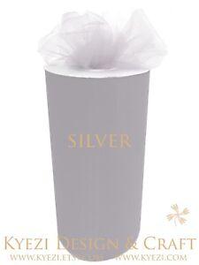 """6"""" X 75' TULLE Roll Spool 6 Inch Tutu Wedding Gift Craft Bridal Bow Decoration"""