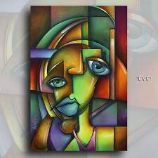 "Mix Lang Art ""EVE"" Portrait Fine Art Limited Reproduction Giclee Canvas Print"