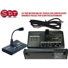 DM-6000 AV-908 MICROFONO DA TAVOLO CON COMPRESSORE DINAMICO VOCALE PER ICOM/YAES