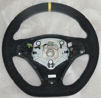 BMW OEM E90 E92 E93 E82 X1 M Performance Steering Wheel Alcantara Yellow Stripe