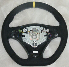 BMW OEM E90 E92 E93 E82 X1 M Performance Steering Wheel Alcantara Yellow Stripe