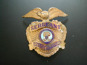 U.S. Monmouth County Sheriff's Department Sergeant  Badge 1957