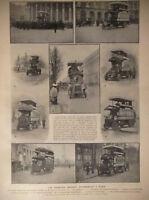 ARTICLE DE PRESSE 1905 LES PREMIERS OMNIBUS AUTOMOBILES A PARIS