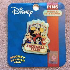 Disney Hong Kong HKDL Mickey Goofy Donald World Champion Football Club Pin RARE