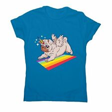 Pug unicorn - women's funny premium t-shirt