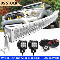 """Curved DOT 50Inch LED Light Bar 1620W Combo Work Driving White 52"""" 54"""""""
