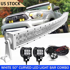 "Curved DOT 50Inch LED Light Bar 1620W Combo Work Driving White 52"" 54"""
