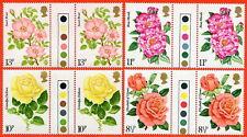 1976 SG. 1006-1009 Roses Traffic Light Gutter Pair