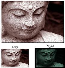 Glow in the Dark Canvas Art - Buddha Spiritual Zen Art - Ready to Hang