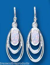 Opale Orecchini argento sterling pendente goccia