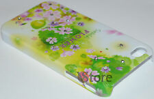 Cover For APPLE iPhone 4/4G/4S Bright Flower Green + Film