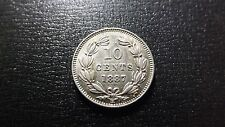 Scarce 1 year type 1887 Nicaragua Silver 10 Centavos Strong Detail High Quality