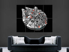 MILLENNIUM FALCON LEGO STAR WARS MAGE  WALL LARGE PICTURE POSTER GIANT