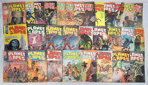 Lot 30 Planet Of The Apes Comic Magazines #1-28 Curtis Marvel Bronze 1974-1976