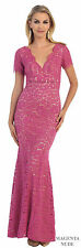 SALE PLUS SIZE MOTHER of the BRIDE GROOM EVENING DRESS MODEST FORMAL CHURCH GOWN
