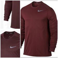 Nike Men's Core correr entrenamiento Team Rojo Oscuro Camiseta Medio