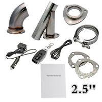 """3.0/2.5/2.25"""" Manual Electric Exhaust Catback Downpipe Kit 12V Stainless MASO"""