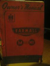 FARMALL OWNERS MANUAL   M  &  MV