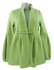 Happy Coat By Tilla Lindig Cappotto 32 34 (D) 6 XS GIACCA VERDE LANA NUOVO ETICHETTA O.