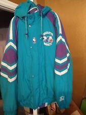 Vintage Charlotte Hornets Throwback Parka Starter Jacket XL Rare!