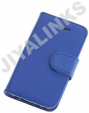 BLUE WALLET CASE COVER PU LEATHER FOR APPLE iPHONE 4 4S