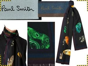 PAUL SMITH Scarf 100% Silk For Man Made In Italy 175€, Here Less¡ PS29 D-1