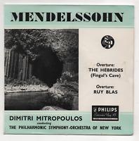 DIMITRI MITROPOULOS - OVERTURE: THE HEBRIDES. (UK, 1956, EP, PHILIPS, ABE 10006)