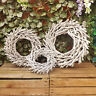 Round Grey Rattan Twig Wreath Candle Ring Christmas Easter Wedding Decoration