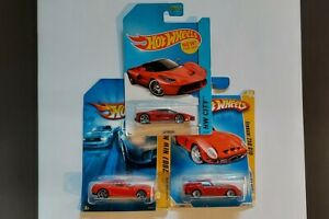 Lot of three[3] Hot Wheels Ferraris [Laferrari, Ferrari 599 GTB, Ferrari 250 GTO